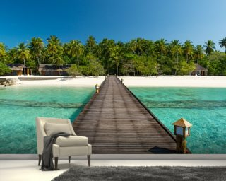 Island Jetty Wall Mural Wallpaper Wall Murals Wallpaper