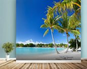Bora Bora Beach mural wallpaper in-room view
