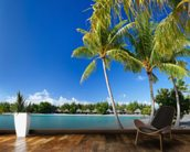 Bora Bora Beach mural wallpaper kitchen preview