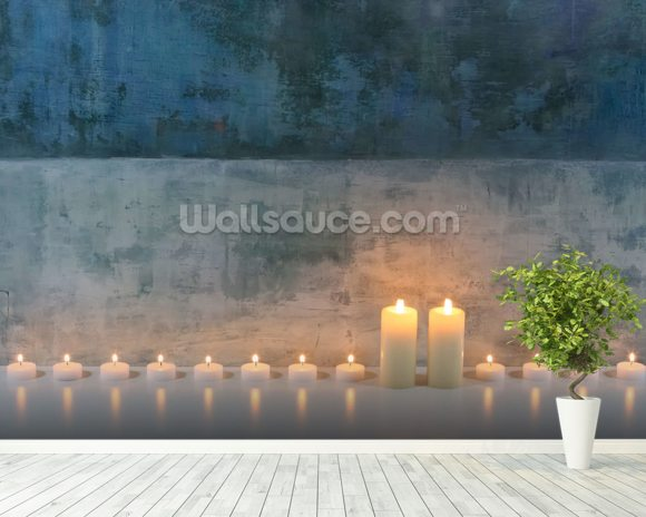 Candle Calm mural wallpaper room setting