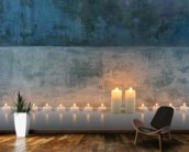 Candle Calm mural wallpaper kitchen preview