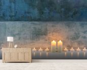 Candle Calm mural wallpaper living room preview