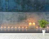 Candle Calm mural wallpaper in-room view