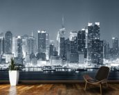 Manhattan Black & White Panoramic wall mural kitchen preview