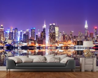 Manhattan Reflections Wallpaper Mural Wall Murals Wallpaper