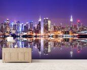 Manhattan Reflections wallpaper mural living room preview