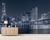 Manhattan at Night wallpaper mural living room preview