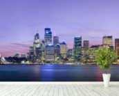 Sydney Skyline wall mural in-room view