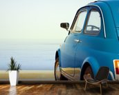 Vintage car mural wallpaper kitchen preview
