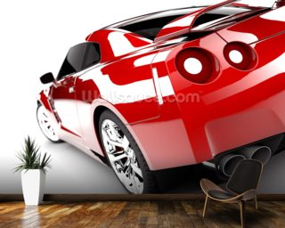 Red Sport wall mural