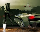 Sports Car Illustration wall mural kitchen preview