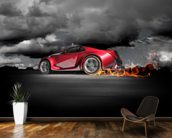 Sports Car Burnout wallpaper mural kitchen preview