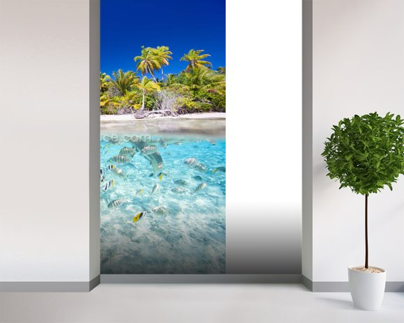 Tropical Island Wallpaper Mural Room Setting