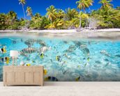 Tropical Island wallpaper mural living room preview