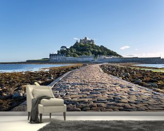 St Michaels Mount, Cornwall wallpaper mural