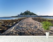 St Michaels Mount, Cornwall wallpaper mural in-room view