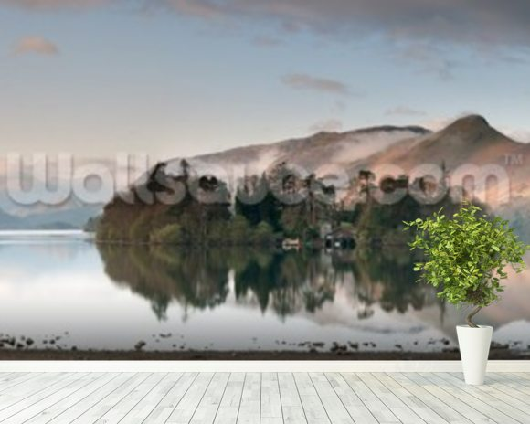 Derwent Water, Lake District wallpaper mural room setting