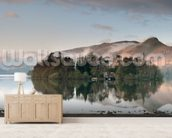 Derwent Water, Lake District wallpaper mural living room preview