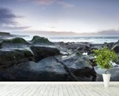 Parton Beach Sunset mural wallpaper in-room view