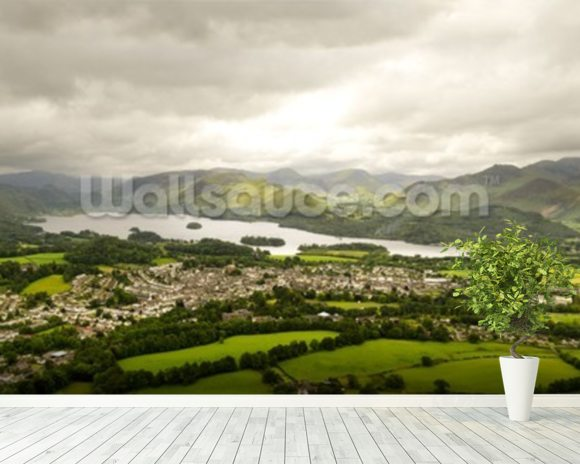 Lake Derwentwater wallpaper mural room setting