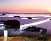 Porthtowan Beach Cornwall mural wallpaper kitchen preview