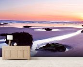 Porthtowan Beach Cornwall mural wallpaper living room preview