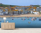 St Ives Panoramic, Cornwall wallpaper mural living room preview