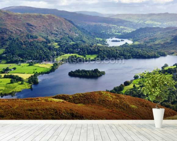 Grasmere from Silver Howe wall mural room setting