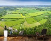 The Cotswolds, Ariel View mural wallpaper kitchen preview