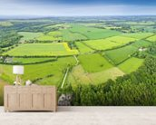The Cotswolds, Ariel View mural wallpaper living room preview