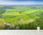 The Cotswolds, Ariel View mural wallpaper in-room view