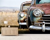 Rusting Vintage Car wallpaper mural living room preview