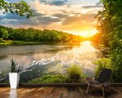 River Sunset wall mural kitchen preview