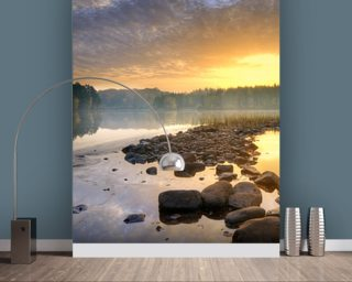 Lake wallpaper mural