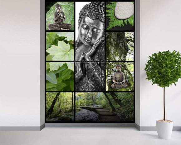 Bouddhisme et Relaxation wall mural room setting