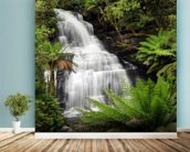Rainforest Waterfall wall mural in-room view