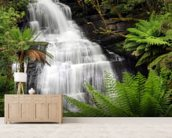 Rainforest Waterfall wall mural living room preview
