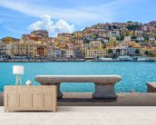 Porto Santo Stefano wallpaper mural living room preview