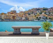 Porto Santo Stefano wallpaper mural in-room view