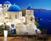 Caldera Santorini mural wallpaper kitchen preview