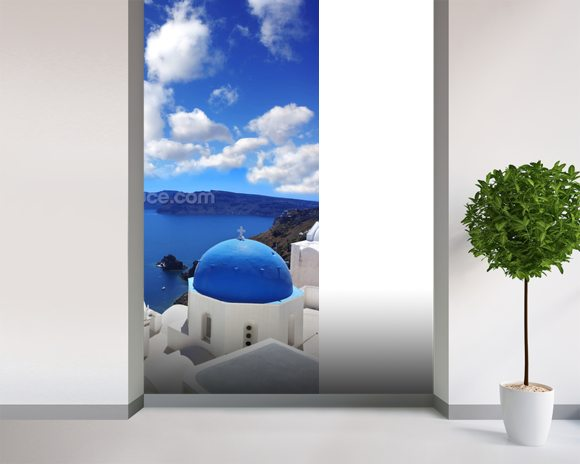Church, Santorini wall mural room setting