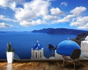 Church, Santorini wall mural kitchen preview