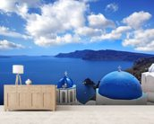 Church, Santorini wall mural living room preview