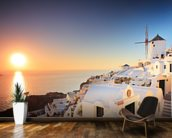 Santorini Sunset wall mural kitchen preview