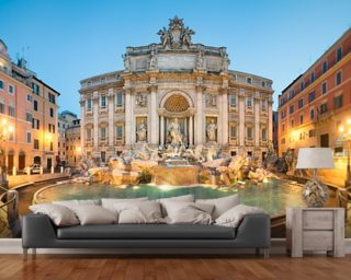 Trevi Fountain Mural Wallpaper Wall Murals Wallpaper