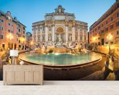 Trevi Fountain wallpaper mural living room preview