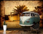 VW Camper on Holiday wallpaper mural kitchen preview