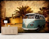 VW Camper on Holiday wallpaper mural living room preview