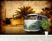 VW Camper on Holiday wallpaper mural in-room view
