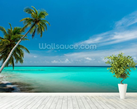 Beach Paradise wall mural room setting